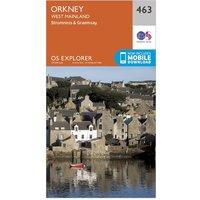 Ordnance Survey Explorer 463 Orkney - West Mainland Map With Digital Version, Orange