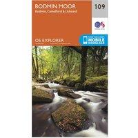Ordnance Survey Explorer 109 Bodmin Moor Map With Digital Version, Orange/D