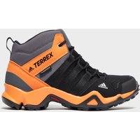 Adidas Kids' Terrex AX2R Waterproof Mid, Orange