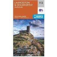 Ordnance Survey Explorer 112 Launceston & Holsworthy Map With Digital Version, Orange