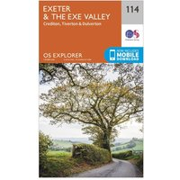 Ordnance Survey Explorer 114 Exeter & The Exe Valley Map With Digital Version, Orange