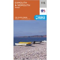 Ordnance Survey Explorer 115 Exmouth & Sidmouth Map With Digital Version, Orange