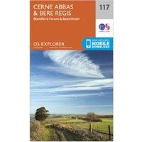 Ordnance Survey Explorer 117 Cerne Abbas & Bere Regis Map With Digital Version, Orange/D