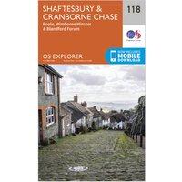 Ordnance Survey Explorer 118 Shaftesbury & Cranborne Chase Map With Digital Version, Orange