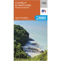 Ordnance Survey Explorer 126 Clovelly & Hartland Map With Digital Version, D/D