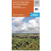Ordnance Survey Explorer 127 South Molton & Chulmleigh Map With Digital Version, Orange
