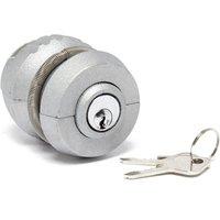 Maypole Trailer Cop Hitch Lock - Silver/Lock, Silver/LOCK