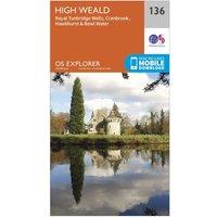 Ordnance Survey Explorer 136 High Weald Map With Digital Version, Orange