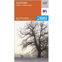 Ordnance Survey Explorer 137 Ashford Map With Digital Version, Orange