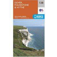 Ordnance Survey Explorer 138 Dover, Folkestone & Hythe Map With Digital Version, D/D