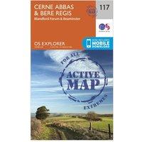 Ordnance Survey Explorer Active 117 Cerne Abbas & Bere Regis Map With Digital Version, N/A
