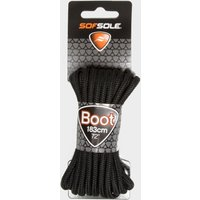 Sof Sole Wax Boot Laces - 183cm, Black/BLK
