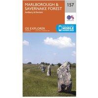 Ordnance Survey Explorer 157 Marlborough & Savernake Forest Map With Digital Version, Orange