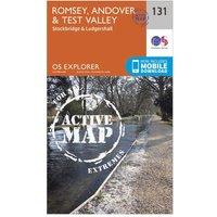 Ordnance Survey Explorer Active 131 Romsey, Andover & Test Valley Map With Digital Version, Orange
