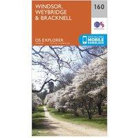 Ordnance Survey Explorer 160 Windsor, Weybridge & Bracknell Map With Digital Version, Orange