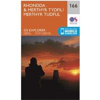 Ordnance Survey Explorer 166 Rhondda & Merthyr Tydfil Map With Digital Version, Orange