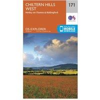 Ordnance Survey Explorer 171 Chiltern Hills West, Henley-on-Thames & Wallingford Map With Digital Version, Orange
