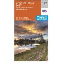 Ordnance Survey Explorer 172 Chiltern Hills East Map With Digital Version, Orange