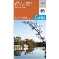 Ordnance Survey Explorer 174 Epping Forest & Lee Valley Map With Digital Version, Orange