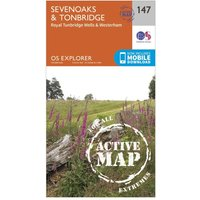 Ordnance Survey Explorer Active 147 Sevenoaks & Tonbridge Map With Digital Version, Orange