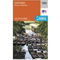 Ordnance Survey Explorer 180 Oxford, Witney & Woodstock Map With Digital Version, Orange
