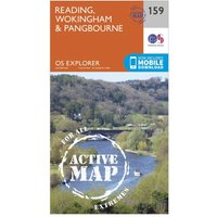 Ordnance Survey Explorer Active 159 Reading, Wokingshire & Pangbourne Map With Digital Version, Orange