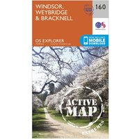 Ordnance Survey Explorer Active 160 Windsor, Weybridge & Bracknell Map With Digital Version, Orange