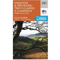 Ordnance Survey Explorer 201 Knighton & Presteigne Map With Digital Version, Orange