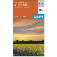 Ordnance Survey Explorer 210 Newmarket & Havehill, Barrow, Clare & Kedington Map With Digital Version, N/A