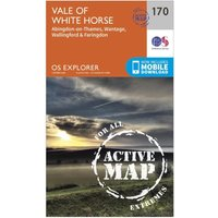 Ordnance Survey Explorer Active 170 Abingdon, Wantage & Vale of White Horse Map With Digital Version, Orange