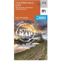 Ordnance Survey Explorer Active 172 Chiltern Hills East Map With Digital Version, N/A