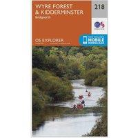 Ordnance Survey Explorer 218 Kidderminster & Wyre Forest Map With Digital Version, Orange