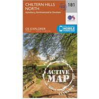 Ordnance Survey Explorer Active 181 Chiltern Hills North Map With Digital Version, Orange