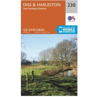 Ordnance Survey Explorer 230 Diss & Harleston Map With Digital Version, Orange