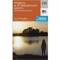 Ordnance Survey Explorer 235 Wisbech & Peterborough North Map With Digital Version, Orange