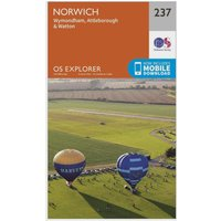 Ordnance Survey Explorer 237 Norwich Map With Digital Version, N/A