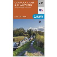 Ordnance Survey Explorer 244 Cannock Chase & Chasewater Map With Digital Version, N/A