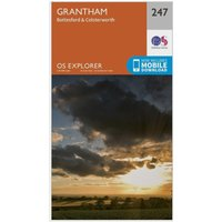 Ordnance Survey Explorer 247 Grantham Map With Digital Version, N/A