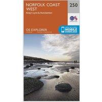 Ordnance Survey Explorer 250 Norfolk Coast West Map With Digital Version, N/A