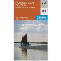 Ordnance Survey Explorer 251 Norfolk Coast Central Map With Digital Version, N/A