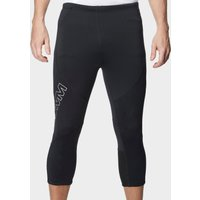 Omm Mens Flash 0.75 Knee Length Running Leggings, Black
