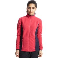 Peter Storm Womens Full-Zip Iris Fleece, Pink