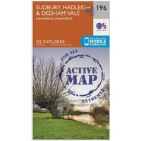Ordnance Survey Explorer Active 196 Sudbury, Hadleigh & Dedham Vale Map With Digital Version, Orange
