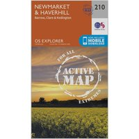 Ordnance Survey Explorer Active 210 Newmarket & Havehill Map With Digital Version, Orange