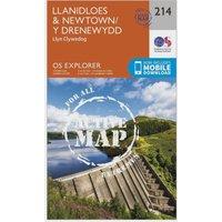 Ordnance Survey Explorer Active 214 Llanidloes & Newton Map With Digital Version, Orange