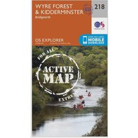 Ordnance Survey Explorer Active 218 Kidderminster & Wyre Forest Map With Digital Version, Orange