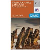 Ordnance Survey Explorer 341 Greenoch, Largs & Millport Map With Digital Version, Orange