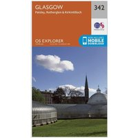 Ordnance Survey Explorer 342 Glasgow Map With Digital Version, Orange