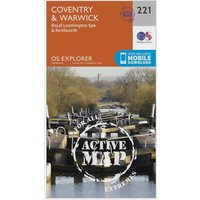 Ordnance Survey Explorer Active 221 Coventry & Warwick Map With Digital Version, Orange