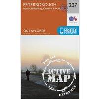 Ordnance Survey Explorer Active 227 Peterborough Map With Digital Version, Orange